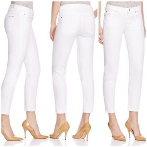 7 for all Mankind Slim Straight white jeans